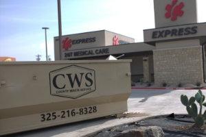 Roll-off dumpster rental near Albany, TX