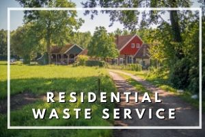 Signup banner for residential waste service